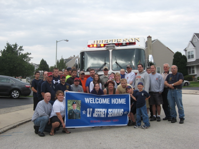 Local Firefighters Welcome Jeff Home