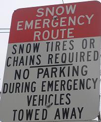 Snow Emergency Sign